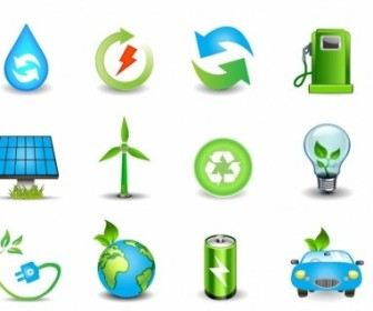 Vector Environmental And Green Energy Icons Icon Vector Graphics