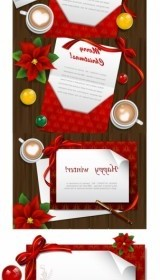 Vector Desktop Card Christmas Vector Graphics