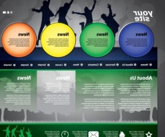 Vector The Trend Of Dynamic Website Templates 03 Web Design Vector Graphics