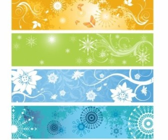 Vector Spring Banners Vector Banner