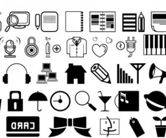 Vector One Simple Black And White Icon Vector Graphics