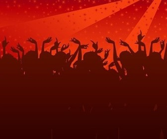 Vector The Trend Of Party Figures Silhouette Silhouettes Vector Graphics