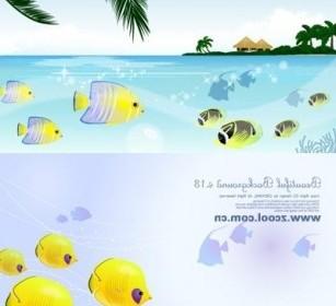 Vector Tropical Fish Theme Vector Art