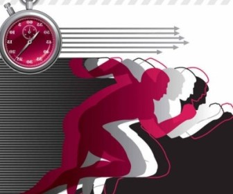 Vector The Creative Dynamic Sports Background Vector Art