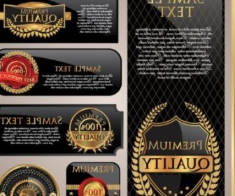 Vector Classic Gold Label 01 Vector Art