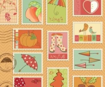Vector Illustration Stamp 04 Cartoon Vector Art