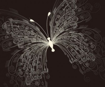 Vector Beautiful Butterfly 01 Pattern Vector Art