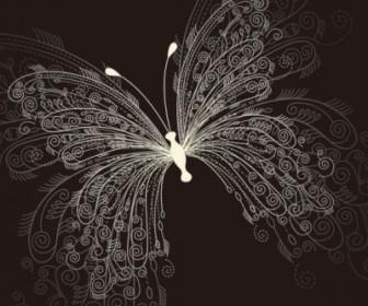 Vector Beautiful Butterfly 01 Pattern Vector Art