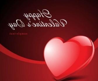 Vector Happy Valentine's Day Card Heart Vector Art