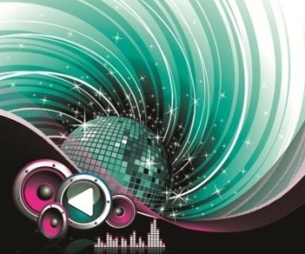 Vector The Trend Of Music Illustration Material 5 Vector Art