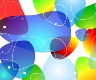 Vector Colorful Glossy Background Abstract Vector Graphics