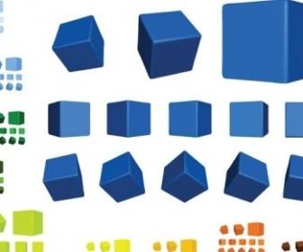 Vector Multicolor Multiangle Cube Vector Art