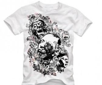 Vector Trend Skull Tshirt Design Pattern Vector Art
