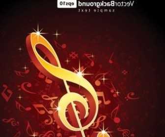 Vector Theme Music Notes 5 Vector Art