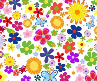 Vector Spring Flowers Background Graphic Flower Vector Art