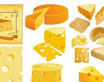Vector Cheese Vector Art