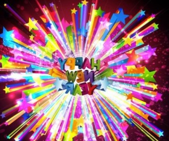 Vector Happy New Year Illustration Background Vector Art