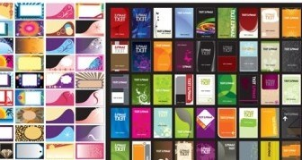 Vector Variety Of Card Template Background Vector Art