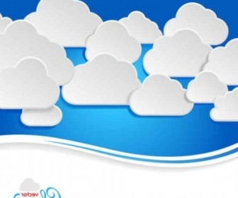 Vector Fashion Colors Clouds Background Vector Art