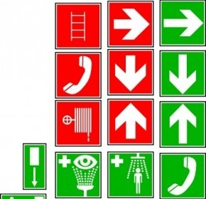Vector Safety And Security Symbols Vector Clip Art