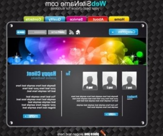 Vector The Trend Of Dynamic Website Templates 07 Web Design Vector Graphics