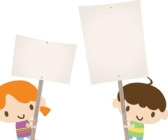 Vector Children Placards Vector Art