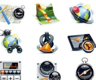 Vector Travelers Theme Icon Vector Graphics