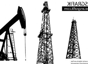 Vector Oil Well Vector Art