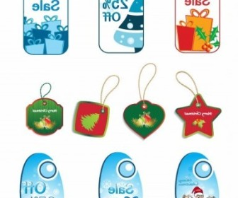 Vector Tags Set Christmas Vector Graphics