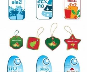 Vector Tags Set Christmas Vector Graphics