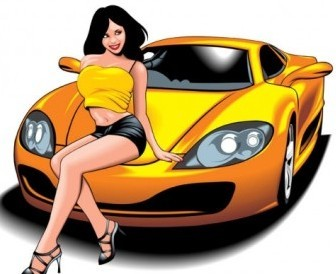 Vector Beautiful And Sexy Sports Car 01 Sport Vector Graphics