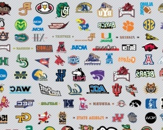 Vector NCAA Basketball Logos Pt1 Vector Art