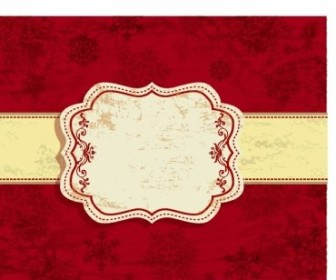 Vector Red Christmas Background Vector Art