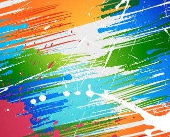 Vector Brush Paint Splashes Background Abstract Vector Graphics