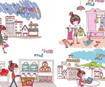 Vector Eps Girl Life People Vector Art