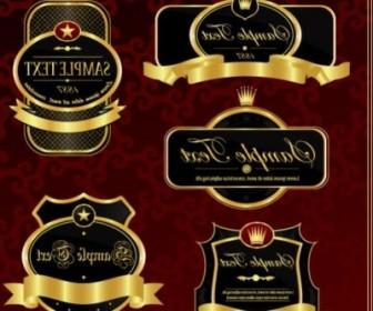 Vector Gorgeous Gold Label 2 Vector Art