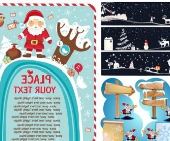 Vector 3 Cute Christmas Vector Graphics