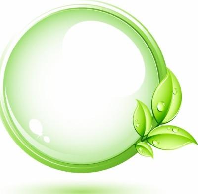 vector green plant and circle vector art ai svg eps