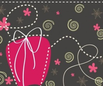 Vector Gift Box Cute Illustration Christmas Vector Graphics