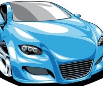 Vector Fine Sports 01 Car Vector Art
