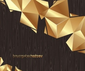 Vector Gold Color Board Background Vector Art