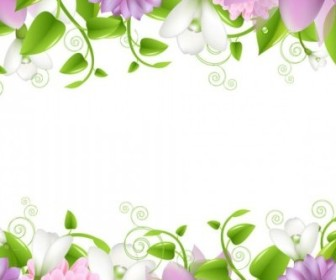 Vector Flowers Border 01 Flower Vector Art