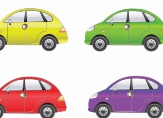 Vector Set Of Four Car Vector Art