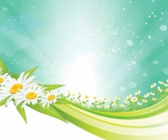Vector Spring Background Vector Art