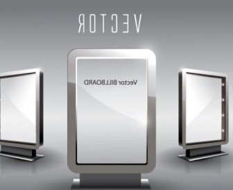 Vector Fine Glass Advertising Boxes 05 Vector Art
