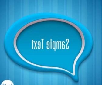 Vector Creative Dialog Blue Background Vector Art