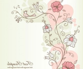 Vector Exquisite Handpainted Pattern 04 Background Vector Art
