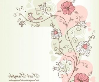 Vector Exquisite Handpainted Pattern 04 Background Vector Art