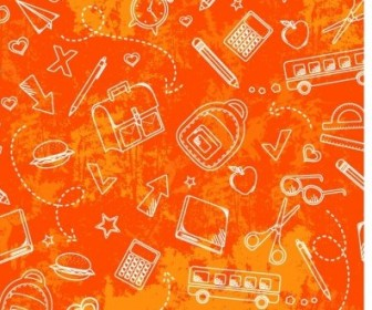Vector School Grunge Pattern Vector Art