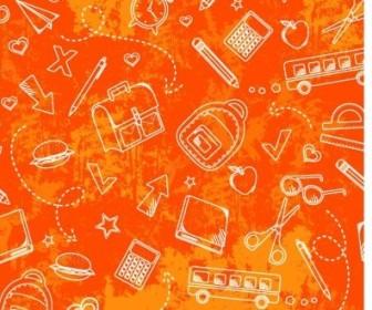 Vector School Grunge Pattern Vector Art